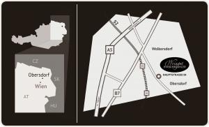 Lage und Anfahrtsplan, Obersdorf (NÖ)